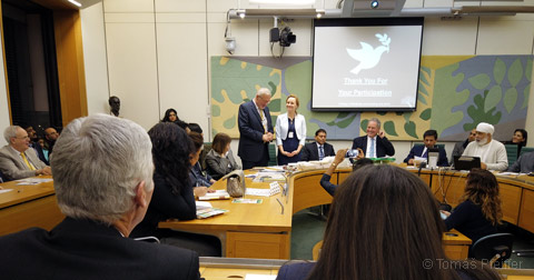 Mr. Tomas Pfeiffer, director of the Professional Chamber Sanator, giving a speech in the UK Parliament in London on 11 February 2019
